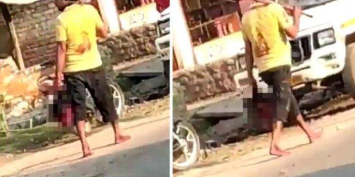 Karısı poşete sarıp karakola bıraktı. Sakince yolda yürüdü