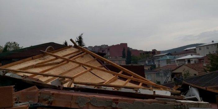 Fırtına çatıyı yerinden söktü