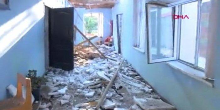 Ermenistan Terter'de bir okulu vurdu