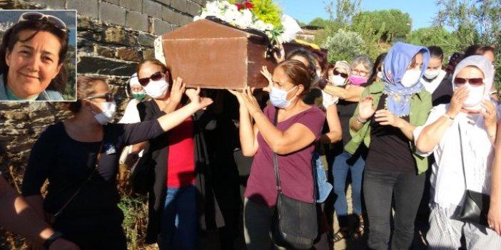 Korkunç cinayete kurban gitmişti. Hatice Tusu kadınların omuzlarında son yolculuğuna uğurlandı