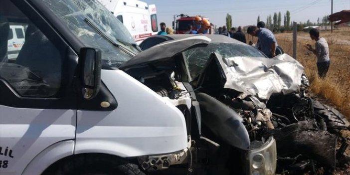 Niğde'de feci kaza. 1 ölü 7 yaralı