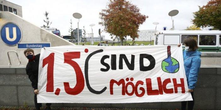 Almanya'da küresel iklim değişikliği nedeniyle protesto