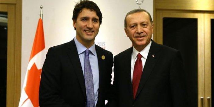 Erdoğan, Trudeau ile telefonda görüştü