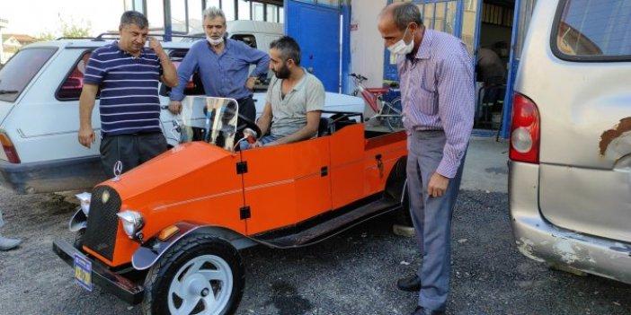 Düzceli mühendis motosiklet motoruyla otomobil yaptı. Tek bir kusuru var
