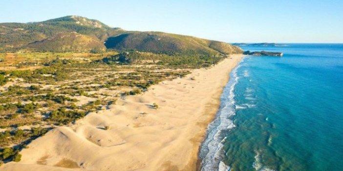 Antalya'da bir doğa harikası. Turistler Patara'nın kum tepelerine gitmeye bayılıyor