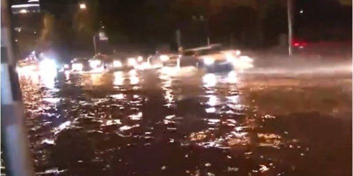 Flaş... Ankara'da yağmur etkili oldu