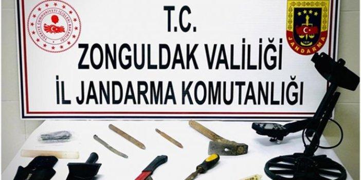 Zonguldak'ta kaçak kazı yapan 2 kişi gözaltında