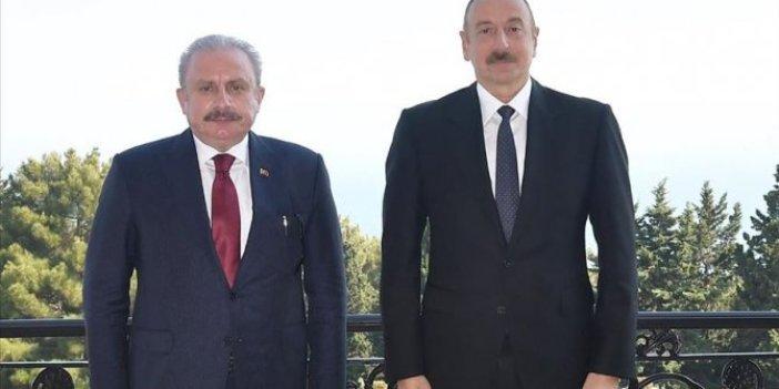 Şentop, Azerbaycan'da Aliyev ile görüştü