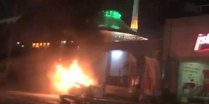 Bursa'da 'makas' atma terörü yangınla sonuçlandı. O anlar saniye saniye görüntülendi
