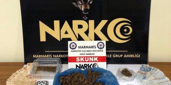 Marmaris'te uyuşturucu satışı yapan garson gözaltına alındı