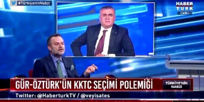 HaberTürk'te ipler gerildi! Adil Gür ile Kemal Öztürk Mustafa Akıncı iddiaları için birbirine girdi