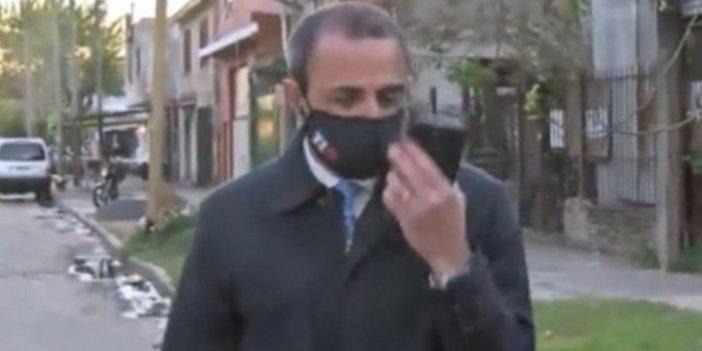 Hırsızlık haberi yapan muhabire canlı yayın öncesi büyük şok