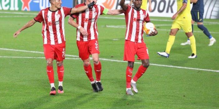 Villareal maçında 8 gollü düello. Sivasspor 3 kez geriye düştü. Sivasspor  Villareal karşısında ilk maçında mağlup oldu