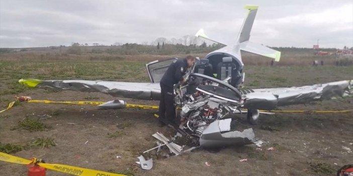 Düşen eğitim uçağının pilotu öldü