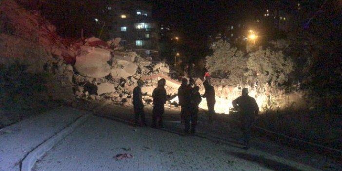 9 katlı bina yerle bir oldu. Bursa'da korku dolu anlar