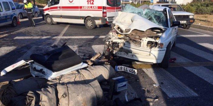 Muğla'da otomobil ile TIR çarpıştı: 1 ölü
