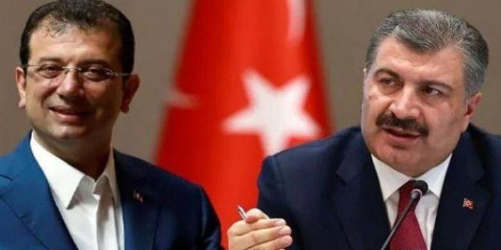 Sağlık Bakanı Fahrettin Koca'dan Ekrem İmamoğlu mesajı