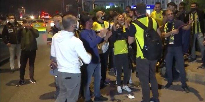 Fenerbahçe taraftarları, Trabzonspor galibiyetini böyle kutladı