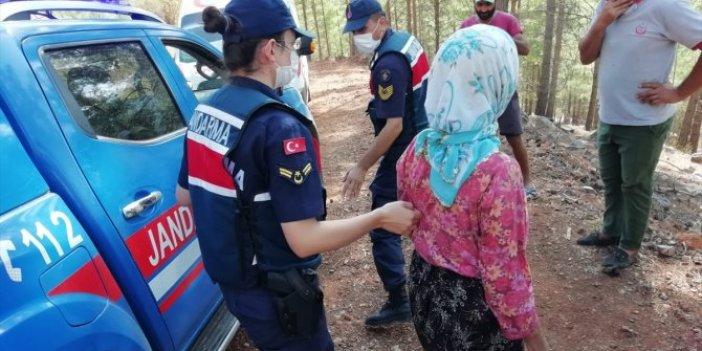 Mersin'de 10 gün önce kaybolan kadın ormanda bulundu