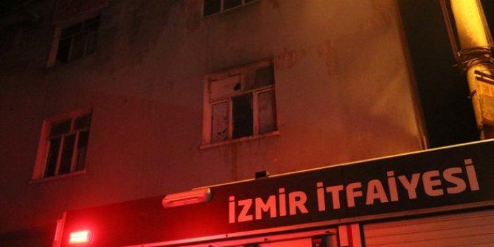İzmir'de nargile közü yakarlarken binanın çatısı yaktılar