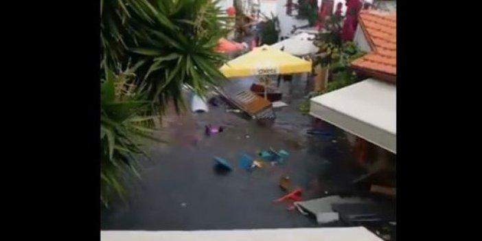 Deprem sonrası İzmir Sığacık'ı Tsunami böyle vurdu, Aynı Japonya gibi oldu!