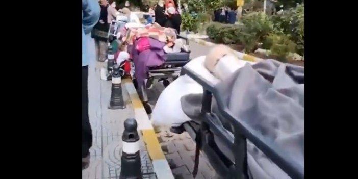 İzmir depremi sonrası yürek burkan görüntüler. Hastanelerin acil servisleri boşaltıldı