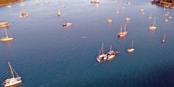 Tsunami sonrası Seferihisar'da felaket havadan görüntülendi