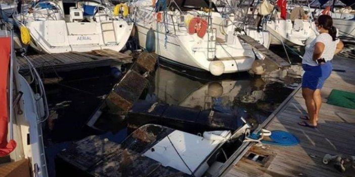 Tsunami Seferihisar'ı aldı götürdü, Tsunami sonrası Sığacık Marina bu hale geldi!