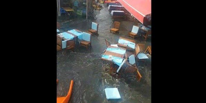 Tsunami Sığacık sokaklarını böyle yuttu, Yeni görüntüler ortaya çıktı, hani Türkiye'de olmazdı!