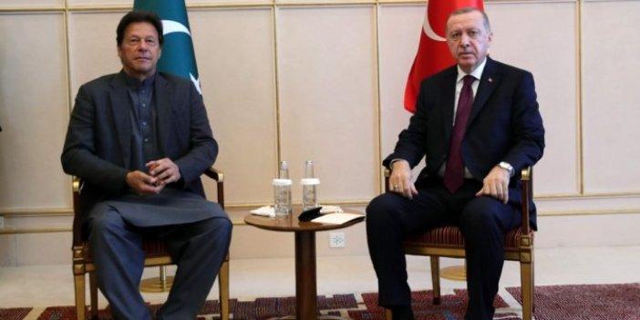 Cumhurbaşkanı Erdoğan ve Pakistan Başbakanı Han görüştü