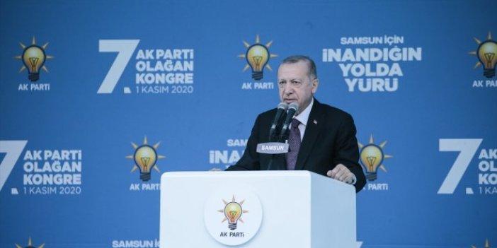 Cumhurbaşkanı Erdoğan'dan Samsun'da seçim mesajı