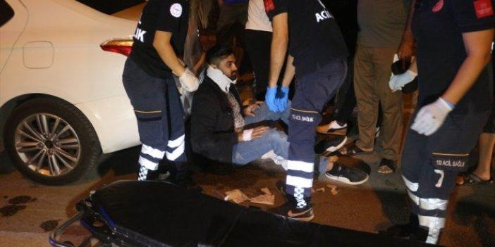 Yaralılar caddeye saçıldı