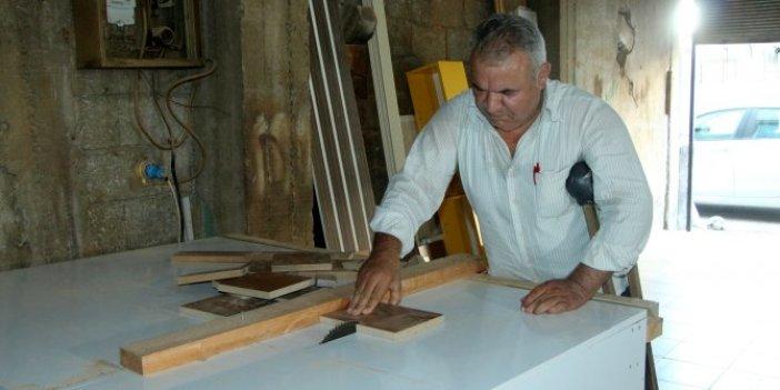 Adana'da 15 bin liralık marangoz makinesini komik fiyata mal etti. Azmin zaferi