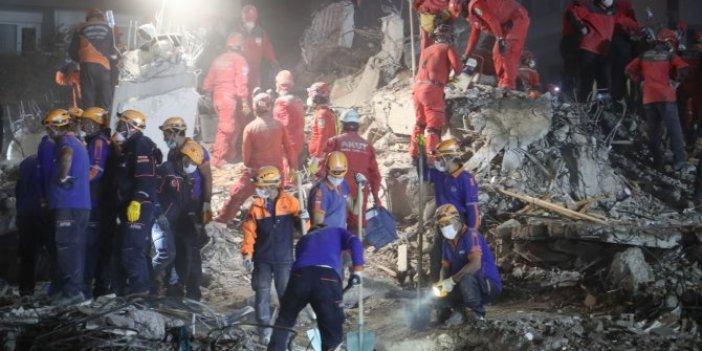 İzmir'dearama kurtarma çalışmaları tamamlandı