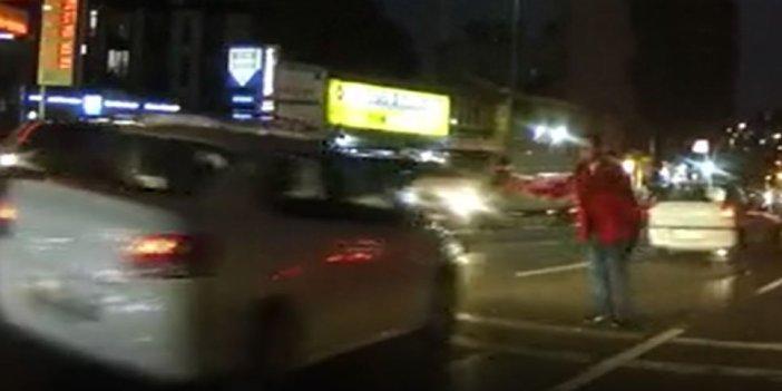 Taksim'de araç sürücülerinin başına bile oldu. Dayak yemek için her yolu denedi
