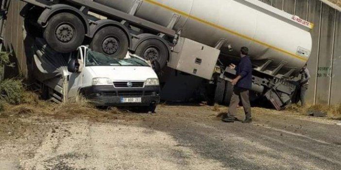 Gökyüzünden başına tanker düştü. Adana'da akıllara durgunluk veren kaza