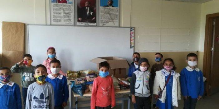 Kendi küçük yüreği büyük çocuklardan İzmir'e destek