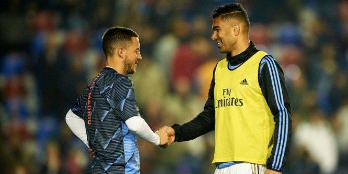 Real Madrid'de Hazard ve Casemiro şoku