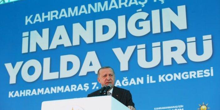 Cumhurbaşkanı Erdoğan AKP Kahramanmaraş İl Kongresinde konuştu
