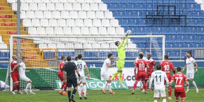 Nefes kesen Kasımpaşa Antalyaspor maçı berabere bitti