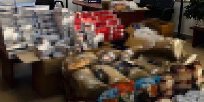 Amasya'da 22 bin paket kaçak sigara yakalandı