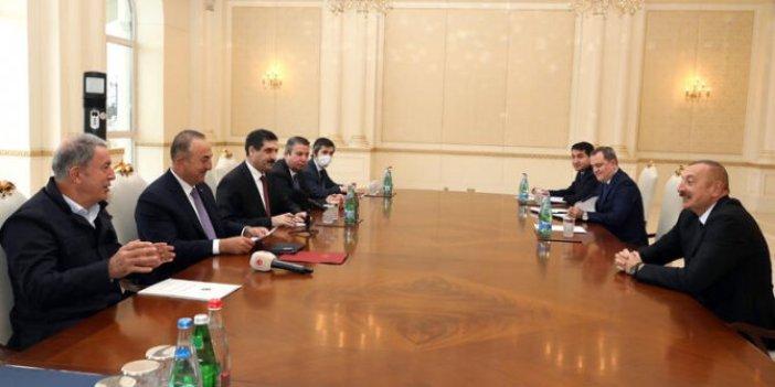 Aliyev, Bakan Çavuşoğlu ve Akar'ı kabul etti