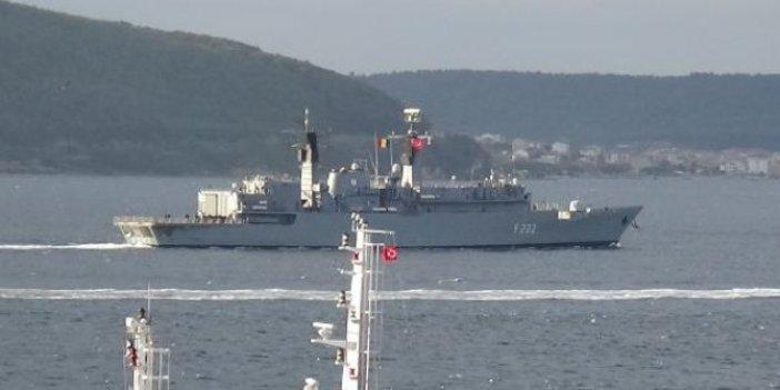 Romanya savaş gemisi Çanakkale Boğazı'nda