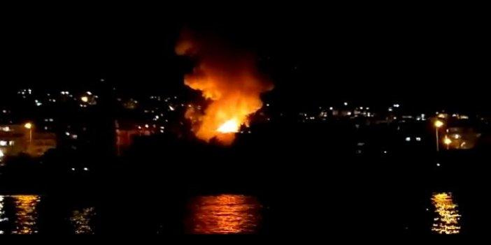 Antalya sahilindeki boş otelde çıkan yangın büyümeden söndürüldü