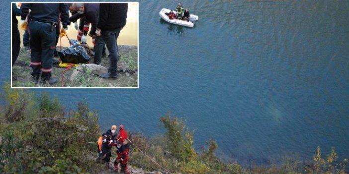 Bartın'da 3 işçinin kiralık otomobille şehir turu faciayla bitti. 100 metre yüksekten Kirazlıköprü barajına uçtular