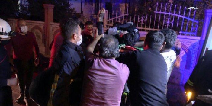 Antalya'da şüpheli olay! Nurullah 4 katlı binadan düştü. Demir parmaklıklara saplanınca itfaiye böyle kurtardı