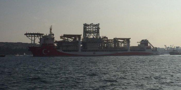 Karadeniz'e açılan Kanuni sondaj gemisi bu hale geldi. Köprünün altından ancak böyle geçebildi