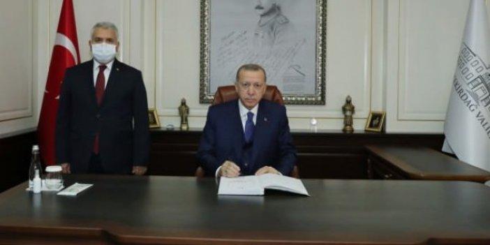 Cumhurbaşkanı Erdoğan Tekirdağ Valiliğini ziyaret etti