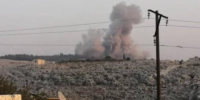 Savaş uçakları bomba yağdırdı