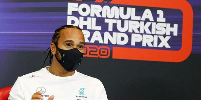 Formula 1 pilotu Lewis Hamilton'dan pist zeminine zehir zemberek sözler. Ulaştırma Bakanı yere göğe sığdıramamıştı
